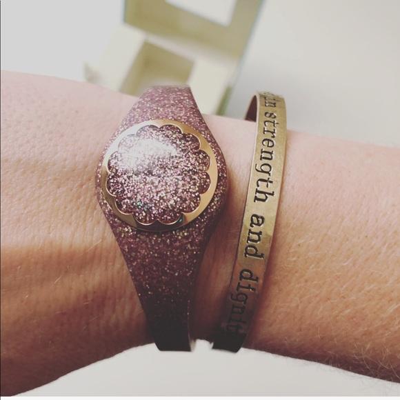 Kate Spade Rose Gold Glitter Activity Tracker